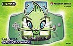 Special edition Pokemon Center Celebi GameBoy Advance box