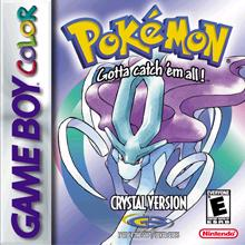 The US Pokemon Crystal box